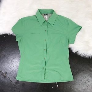 The North Face Women's Green Nylon Button Up Shirt